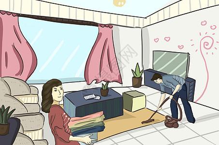 做家务的夫妻图片
