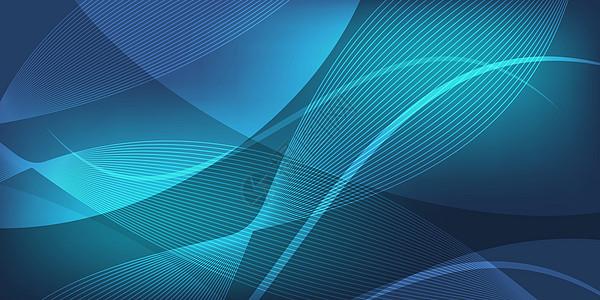 蓝色商业科技背景图片