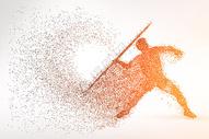 运动员粒子剪影图片