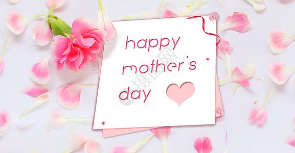 唯美花朵母亲节节日背景图片