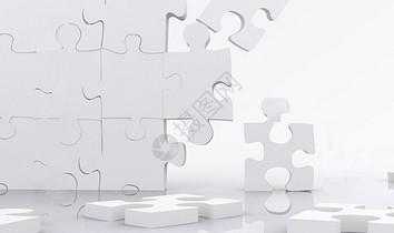 商务拼图背景图片