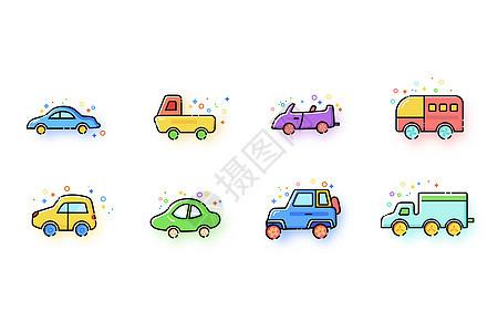 多彩MBE风格汽车类型图标图片