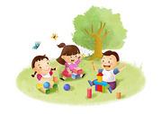 儿童堆积木图片