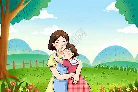 母亲节 拥抱妈妈图片