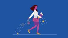 旅游出行人物插画图片