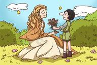 母亲节插画图片