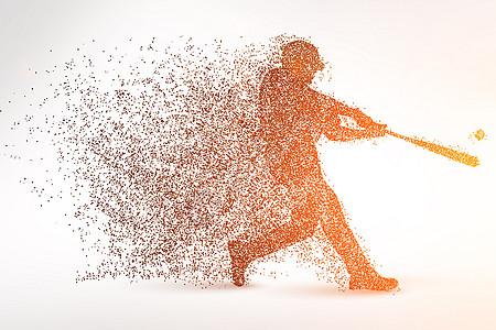 创意运动员剪影粒子图片