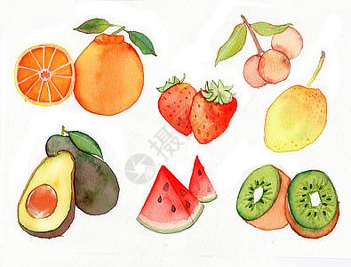 水彩手绘水果图片