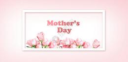 母亲节粉色亲子背景图片