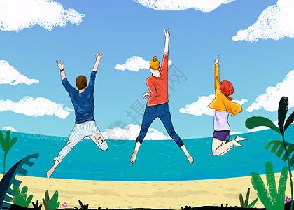 青年节插画图片