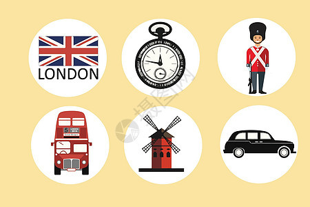 英国元素图标图片