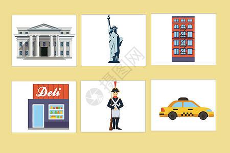 美国元素背景素材图片