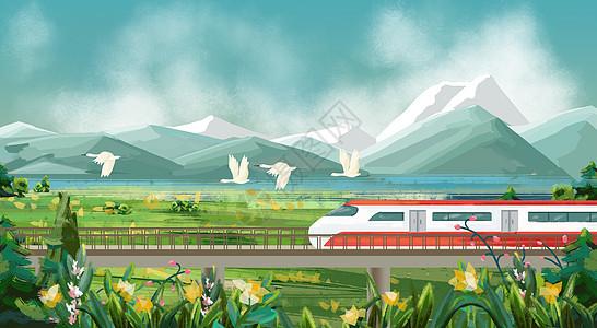 坐上火车去旅行图片