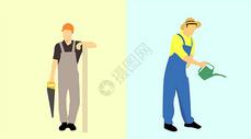 五一劳动人民形象图片