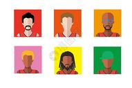 篮球运动人物图标图片