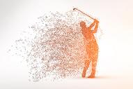 创意高尔夫剪影粒子图片