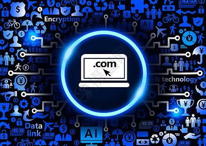 电脑搜索金融科技背景图片