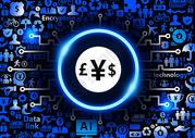 货币互联金融安全科技背景图片