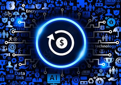 货币缓冲科技背景图片