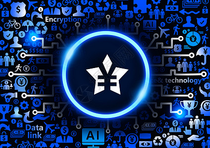 五角星货币金融服务科技背景图片