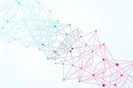 网状分子结构背景图片