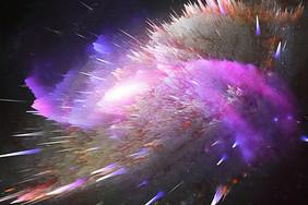 炫酷抽象爆炸色彩背景图片