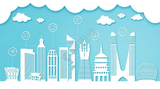 杭州扁平互联都市建筑图片
