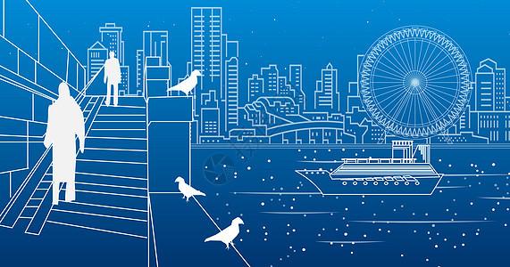 城市海边景观图片