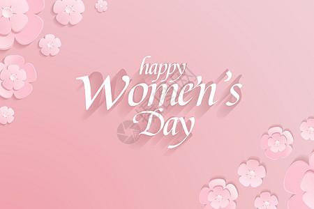 母亲节粉色小花背景图片