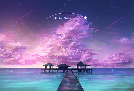 夏夜星海图片