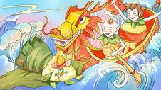 端午节中国风插画图片