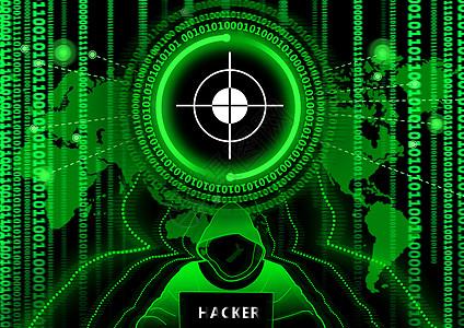 信息中心点黑客科技背景图片
