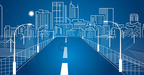 城市道路尽头线条图片