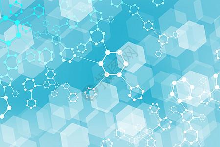 六边形分子结构背景图片