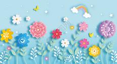 小花剪纸图片