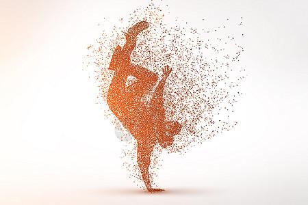 创意街舞剪影粒子图片