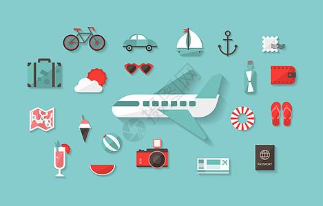 旅游度假插画图片