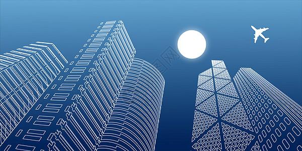 城市线条背景图片