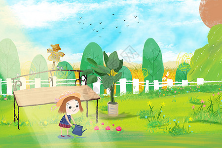 夏天种花草图片