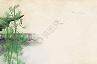 中国风竹林背景图片