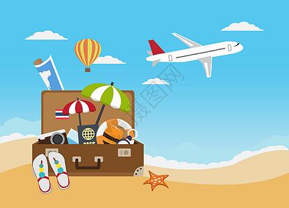 沙滩旅行图片
