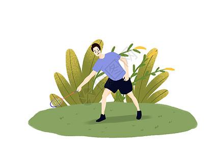 打羽毛球健身图片