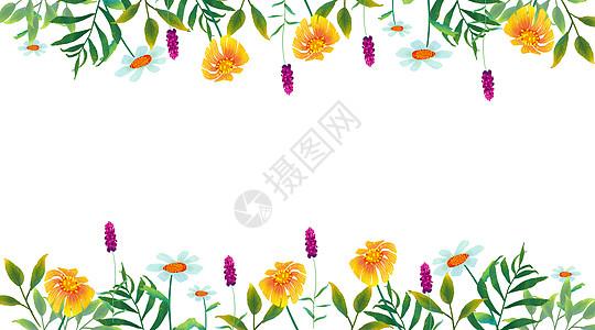 手绘花边背景图片