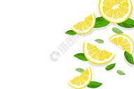 清新柠檬简约背景图片