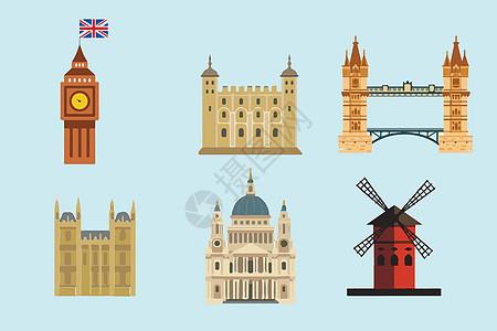 英国建筑背景素材高清图片