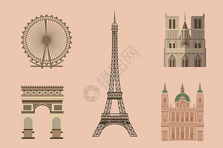 法国建筑素材图片