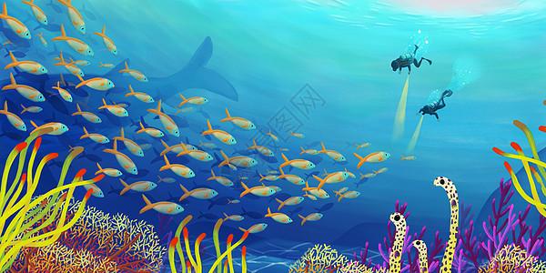 保护海洋  海中潜水图片