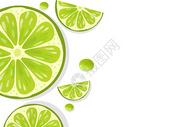 夏季清凉简约柠檬背景图片