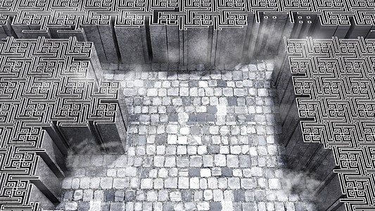 创意立体迷宫背景图片