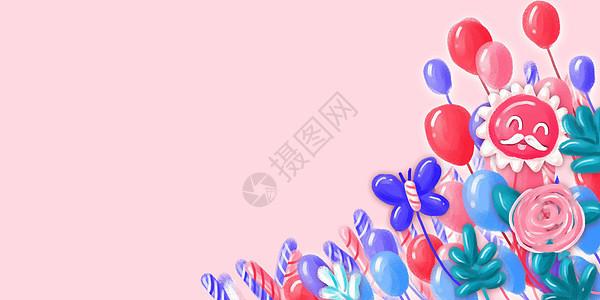 卡通气球背景图片